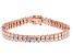 White Cubic Zirconia 18K Rose Gold Over Sterling Silver Tennis Bracelet 16.14ctw