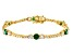 Green And White Cubic Zirconia 18K Yellow Gold Over Sterling Silver Tennis Bracelet 11.65ctw