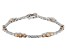 Champagne And White Cubic Zirconia Rhodium Over Sterling Silver Tennis Bracelet 12.05ctw