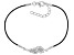 White Cubic Zirconia Rhodium Over Sterling Silver Angel Wing Bracelet 0.30ctw