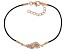 White Cubic Zirconia 18K Rose Gold Over Sterling Silver Angel Wing Bracelet 0.30ctw