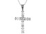 White Cubic Zirconia Rhodium Over Sterling Silver Cross Pendant With Chain 1.97ctw