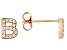 White Cubic Zirconia 18K Yellow Gold Over Sterling Silver B Earrings 0.28ctw