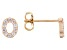 White Cubic Zirconia 18K Yellow Gold Over Sterling Silver O Earrings 0.31ctw