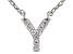White Cubic Zirconia Rhodium Over Sterling Silver Y Necklace 0.08ctw