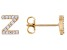 White Cubic Zirconia 18K Yellow Gold Over Sterling Silver Z Earrings 0.27ctw