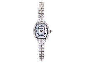 13.7ctw Mother Of Pearl Dial Sterling Silver Watch