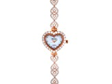 Sterling Silver Trose Tone Mop Watch