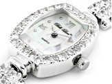 11.11ctw Mother Of Pearl Dial Sterling Silver Watch