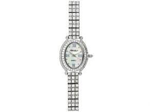 ladies round 7.96CTW mop sterling silver watch