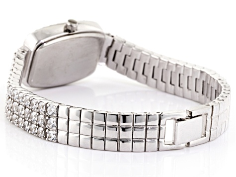 Cubic Zirconia Sterling Silver Watch.
