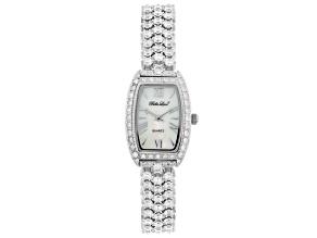 ladies round 15.4CTW mop sterling silver watch