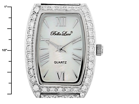 ladies round 15.4CTW mop sterling silver watch
