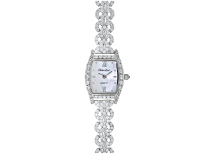 Ladies Round Diamond Simulant 6.08ctw Sterling White Watch