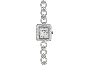 Bella Luce® Ladies Round Diamond Simulant 6.69ctw Mop Sterling Silver Watch