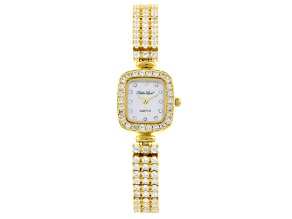 LADIES 10.70CTW ROUND Yellow OVER STERLING SILVER WATCH