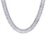 Cubic Zirconia Rhodium Over Sterling Silver Necklace 208.50ctw