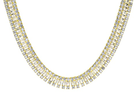Cubic Zirconia 18k Yellow Gold Over Silver Necklace 208.50ctw