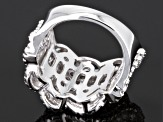Cubic Zirconia Rhodium Over Sterling Silver Ring 2.37ctw