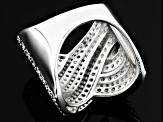 White Cubic Zirconia Sterling Silver Ring 3.89ctw