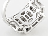 White Cubic Zirconia Sterling Silver Ring 2.70ctw