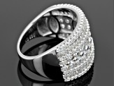 White Cubic Zirconia Rhodium Over Sterling Silver Ring 4.50ctw