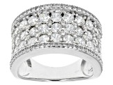 White Cubic Zirconia Sterling Silver Ring 4.50ctw