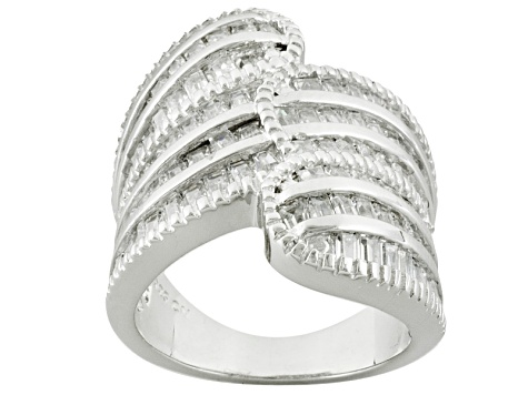 Cubic Zirconia Silver Ring 5.00ctw