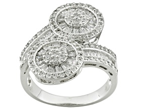 White Cubic Zirconia Sterling Silver Ring 2.60ctw
