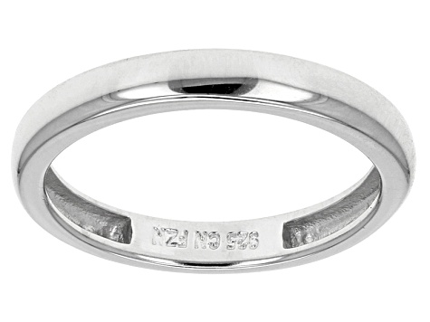 74e0472a9f2cd White Cubic Zirconia Sterling Silver Bands, Set Of 4 10.73ctw