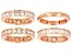 White Cubic Zirconia 18k Rose Gold Over Sterling Silver Rings Set Of 4 10.73ctw