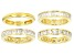 White Cubic Zirconia 18k Yg Over Sterling Silver Rings Set Of 4 10.73ctw