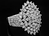 White Cubic Zirconia Sterling Silver Ring 2.18ctw