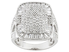 Cubic Zirconia Sterling Silver Ring 4.65ctw