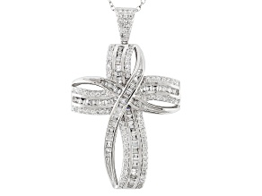 Bella Luce ® 3.07ctw Rhodium Over Sterling Silver Pendant With Chain (2.28ctw DEW)