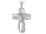 Cubic Zirconia Rhodium Over Sterling Silver Cross Pendant With Chain 3.07ctw (2.28ctw DEW)
