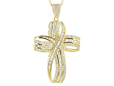 Bella Luce ® 3.07ctw 18k Yellow Gold Over Sterling Silver Pendant With Chain