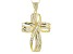 Cubic Zirconia 18k Yellow Gold Over Sterling Silver Cross Pendant With Chain 3.07ctw