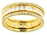 Cubic Zirconia 18k Yellow Gold Over Sterling Silver Rings- Set Of 3 3.39ctw