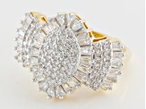 Cubic Zirconia 18k Yellow Gold Over Sterling Silver Ring 1.55ctw