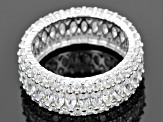 Cubic Zirconia Rhodium Over Sterling Silver Ring 9.60ctw