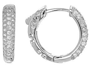 Cubic Zirconia Sterling Silver Earrings 1.10ctw