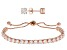 Cubic Zirconia 18K Rose Gold Over Sterling Silver Bracelet And Earrings Set 11.89ctw