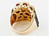 Mocha Cubic Zirconia 18k Yellow Gold Over Sterling Silver Ring 1.89ctw
