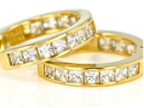 Cubic Zirconia 18k Yellow Gold over Sterling Silver Earrings 1.75ctw