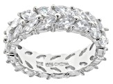 Cubic Zirconia Rhodium Over Silver Ring And Bracelet Set 18.40ctw