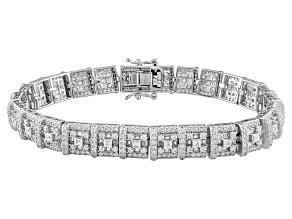 Cubic Zirconia Sterling Silver Bracelet 10.97ctw