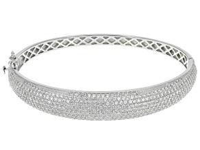 Cubic Zirconia Rhodium Over Sterling Silver Bracelet 8.34ctw