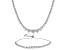 Cubic Zirconia Sterling Silver Necklace And Bracelet Set 25.98ctw