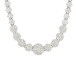 Cubic Zirconia Rhodium Over Sterling Silver Necklace 17.65ctw